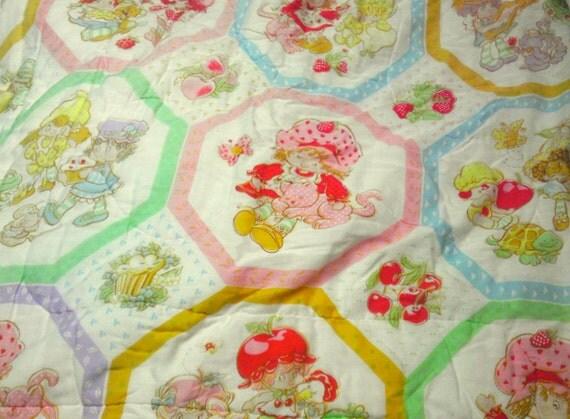 Strawberry Shortcake Vintage Comforter/Duvet Twin/Full