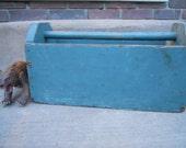 Vintage Handmade Tool Box, Garden Tote, Catch All, Utensil Holder, Multi Use Box, Circa 1960s - SlyfieldandSime