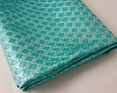 RESERVED FOR DEBRA - Vintage Fabric - Mid Century Aqua Blue Lame - Gorgeous