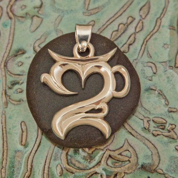 Balinese Om Pendant Silver