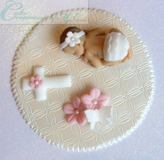 Fondant Cake For Baptism : Baptism / Christening Fondant Baby Cake by CakeCreationsbyME