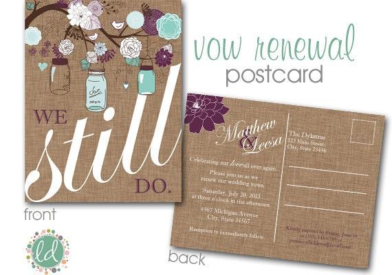 Invitation For Renewal Of Wedding Vows: Mason Jar Vow Renewal Invitation Wedding Invitation Save