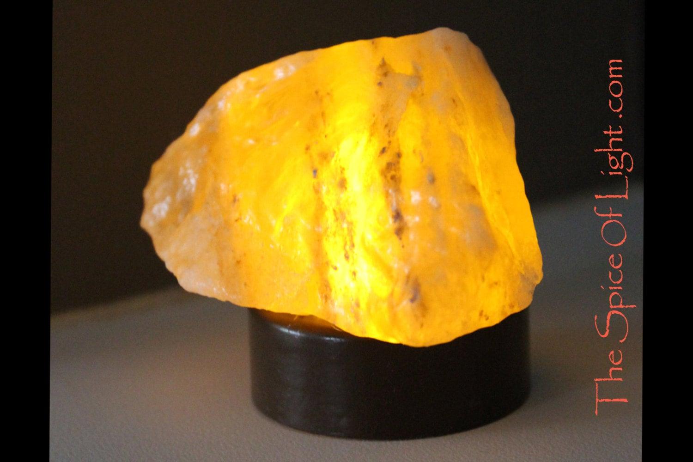 Himalayan Salt Lamp Night Light : Night Light Himalayan salt crystal battery operated Tea Light