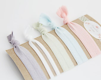 Elastic Hair Bands - Pastel Colors - Hair Bands - Set of 5