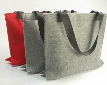 Sales & Promotion! Felt Purse Shoulderbag Bag Shopping Bag Laptop Computer Bag Messenger Tote bag Custom Made E454-MGra01