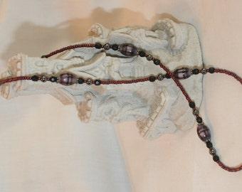 Deep Purple Necklace (1029)