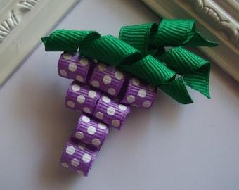 Grapes Ribbon Sculpture Hair Clip