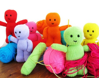 Knitting Pattern For Jelly Babies : Orange Knitted Jelly Baby Toy by CrabsAndCritters on Etsy