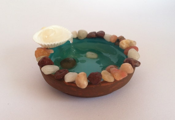 Nome Garden: Pond With Waterfall For Fairy/Nome Garden By TwinsieBopShop