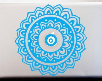Indian Mandala Design Henna Laptop Vinyl Decal Car Decal Window Decal