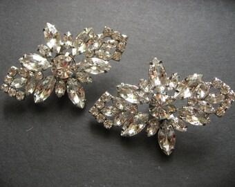 Victorian Glamours Swarovski Rhinestones Crystals Wedding Bridal Bridesmaids Flower Girls Shoe Clips, Dance Shoe Clips, Bridal Shoes, Engage
