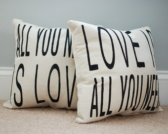 Beatles All You Need is Love pair of pillows