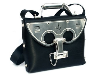 Womens industrial Gothic neo Steamapunk messenger bag