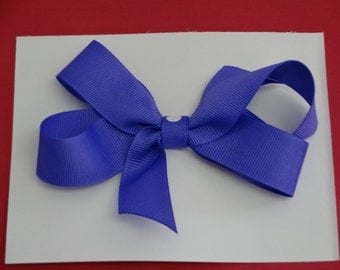 """Toddlers/Girls Double Boutique Hair Bow, 41/2"""" Purple,,,"""