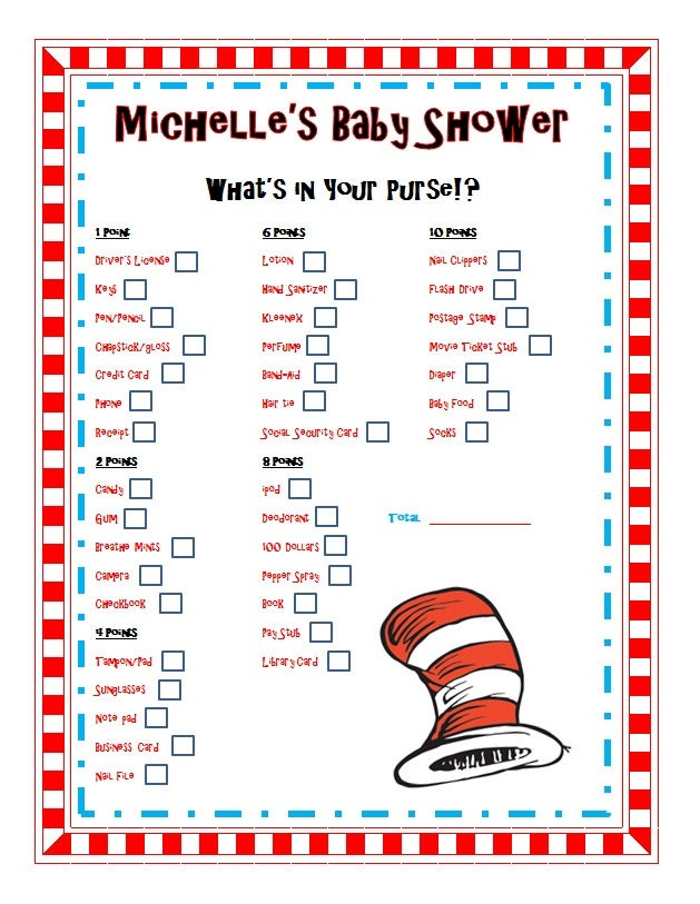 go back gallery for dr seuss baby shower games