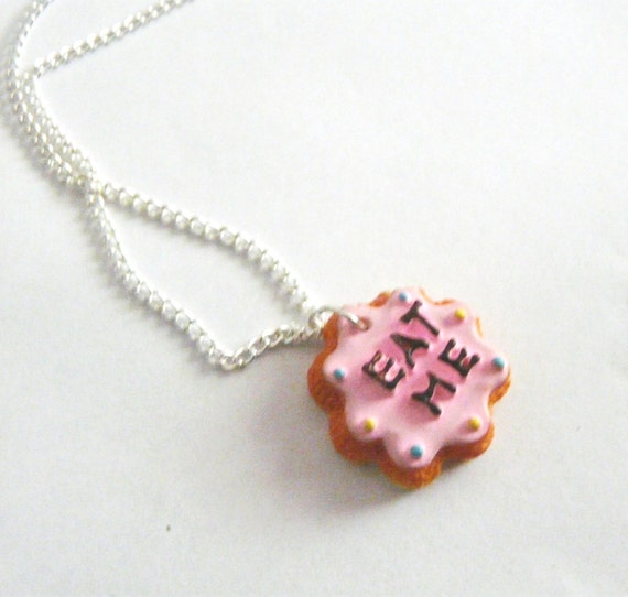 Alice in Wonderland collar Me come galletas miniatura Kawaii Food joyas pastel Decoden dulces Lolita