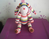 Striped bunny - HandmadebyFieke