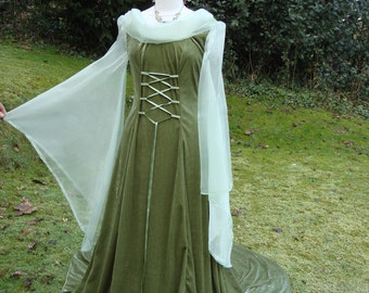 Fantasy gown  renaissance medieval pagan Celtic handfasting gown / dress 8 to 14