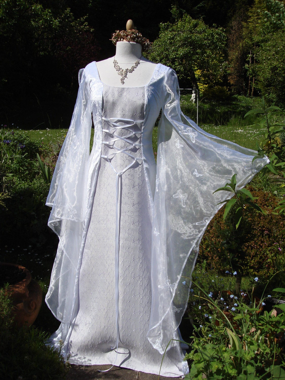 White and lilac Celtic goddess me val renaissance