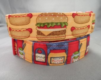 Hamburgers, Hotdogs, and Fixings, His and Hers Dog Collar Pair