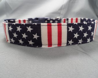 Star Fields and Stripes Dog Collar