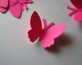 56 Fireball Pink Large Butterfly  Punches Punch Outs Die Cuts cut outs