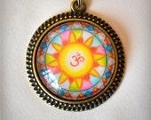 OM mandala necklace