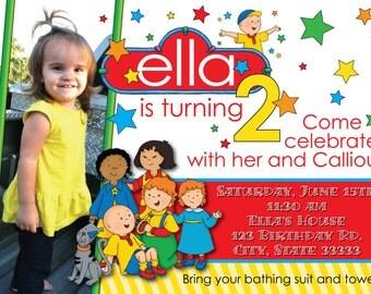 Caillou Girl/Boy Customizable Birthday Invitation, digital printable 5x7 file
