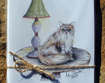 Cat on a Table set of notecards