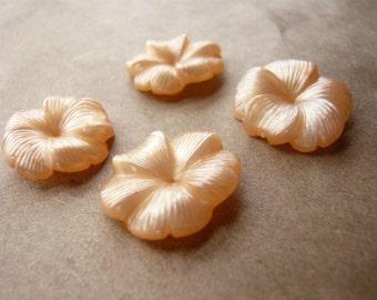 Vintage Peach Resin Flowers