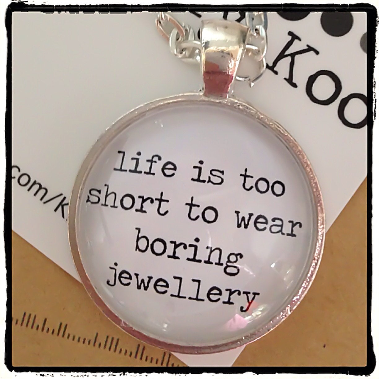Life Ius: FREE SHIPPING Life Is Too Short To Wear Boring Jewelry