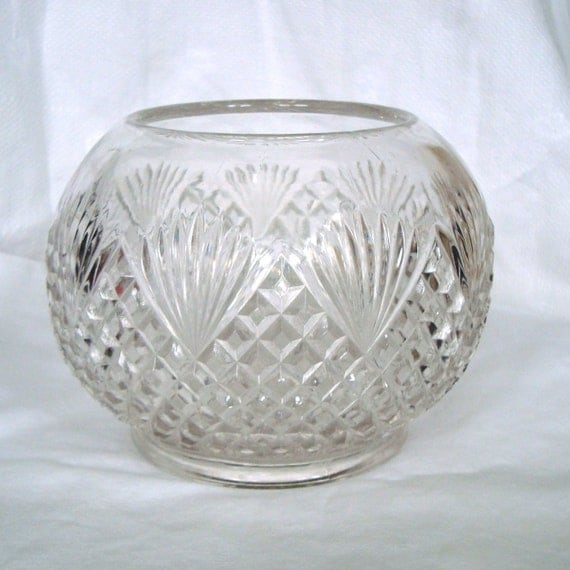 Vintage Depression Clear Glass Bowl Round By Mystuffvintage