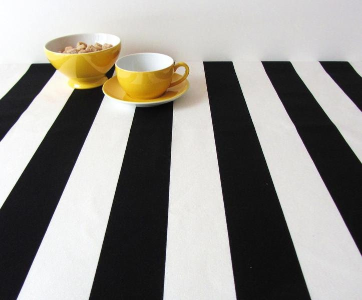 Superior Black And White Round Tablecloths Pictures To Pin On Part 29
