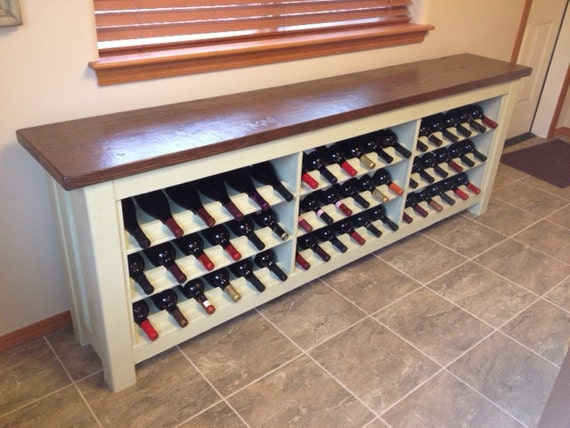 Items Similar To Wine Storage Buffet Table On Etsy