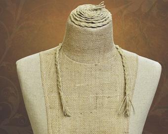 Jewelry stand display Burlap and Calico Half mannequin Bust torso- peper mache decorative item
