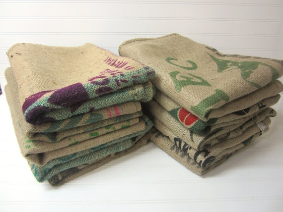 10 burlap coffee bags burlap coffee sacks coffee by zoonvanoom
