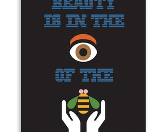Beauty is in the eye of the bee holder