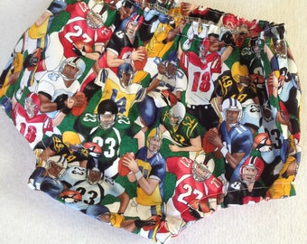 Large Baby Diaper Cover in football players and jerseys, cotton nappy cover, large size, 18  months, toddler boy