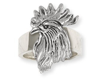 Solid Rooster Ring Jewelry RST2-R