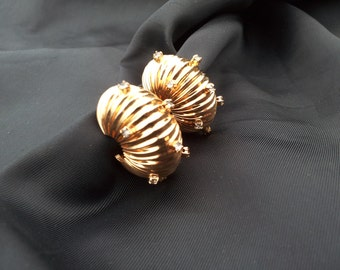 Vendome Gold Tone and Rhinestone Comfort Clip Earrings