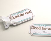 Coupon Book Gift - Good for One - can customize