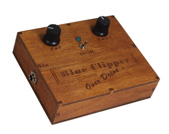 Wooden Box Distortion & Overdrive Pedal Cigar Box Guitar