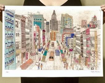 New York - Reproduction of an original Artwork