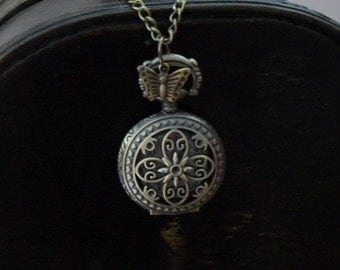 "Pendant watch/pocket watch  Pocket watch Pendant Necklace ""MyFlower"""