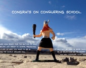 Congrats on Conquering School - a Photographic Greeting Card