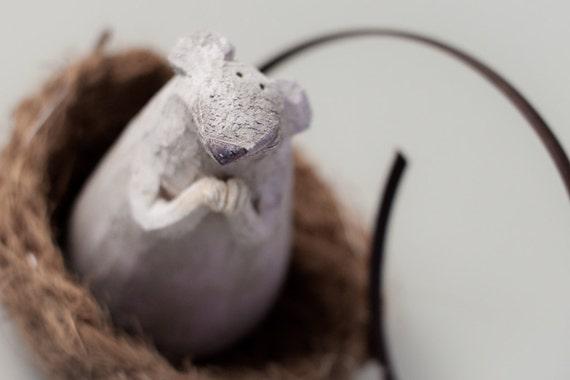 "Ratón 17 ""El ratón adorable"" hecha a mano gres escultura, Animal de cerámica figura por MURTIGA"