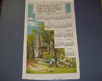 1979 Cloth Calendar / Cloth Calendar /