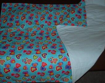 Tie-Died Heart Blanket