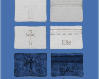 Personalized Rosary Case, Monogrammed Rosary Pouch, First Communion Gift, Christian Coin Purse, Religious Gift, Catholic Gift, RCIA Gift