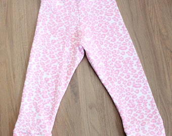 Baby Girl Leggings-Light Pink Cheetah